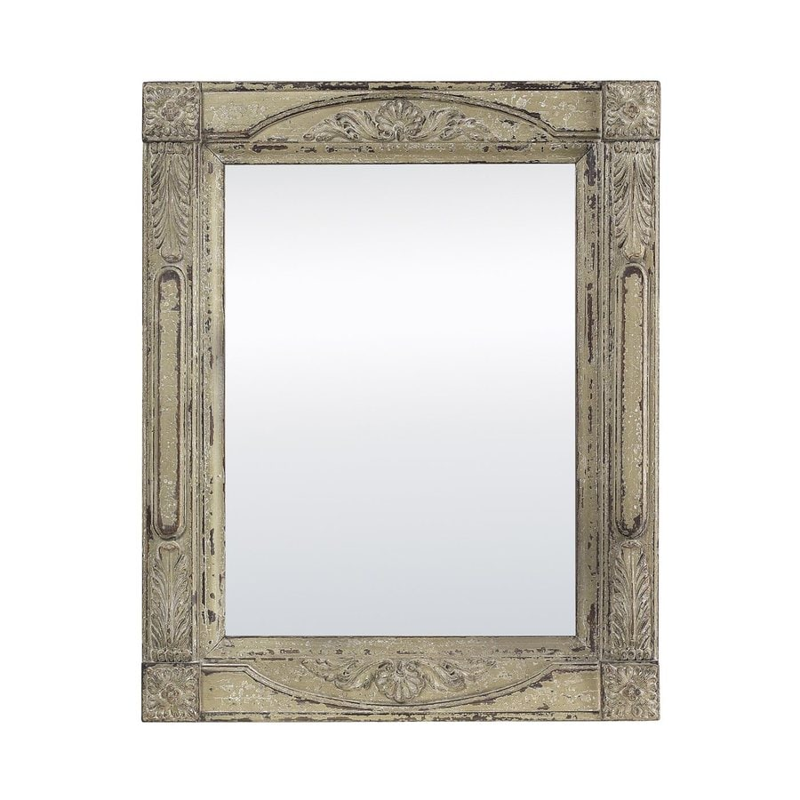 Sterling Home Antique Cream Polished Wall Mirror