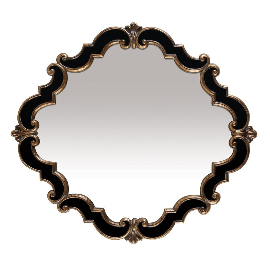 Sterling Home Frederick Black Polished Oval Wall Mirror