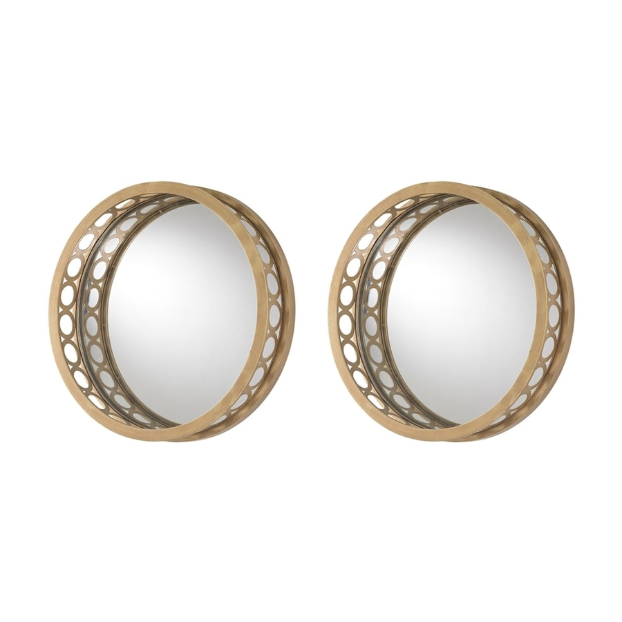 Sterling Home Gold Polished Round Wall Mirror