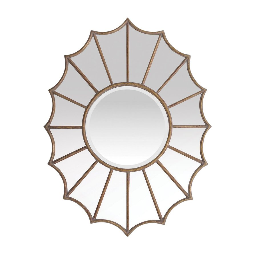Sterling Home Victoria Gold Beveled Round Wall Mirror