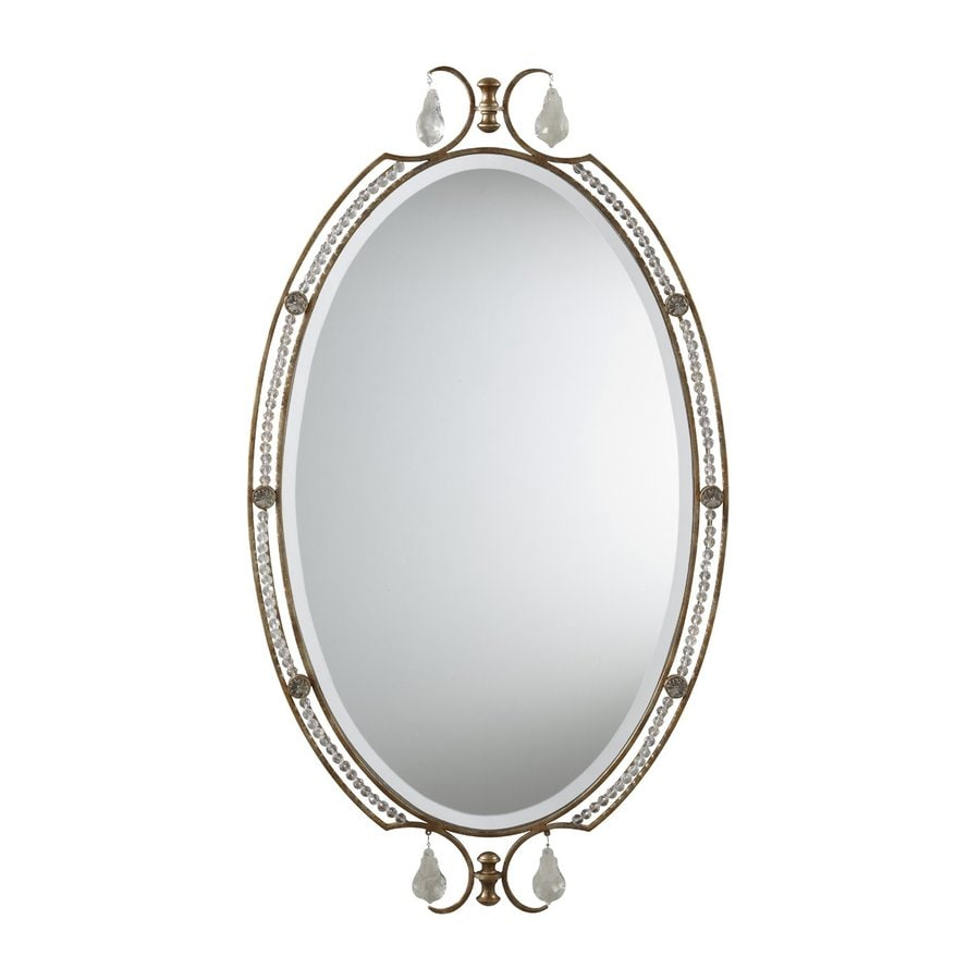 Feiss Valentina Bronze Beveled Oval Wall Mirror