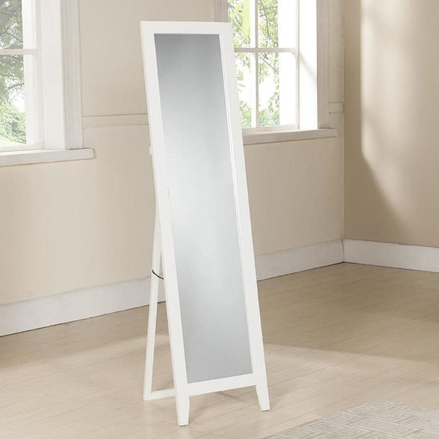 Shop KB Furniture White Polished Floor Mirror at Lowes.com