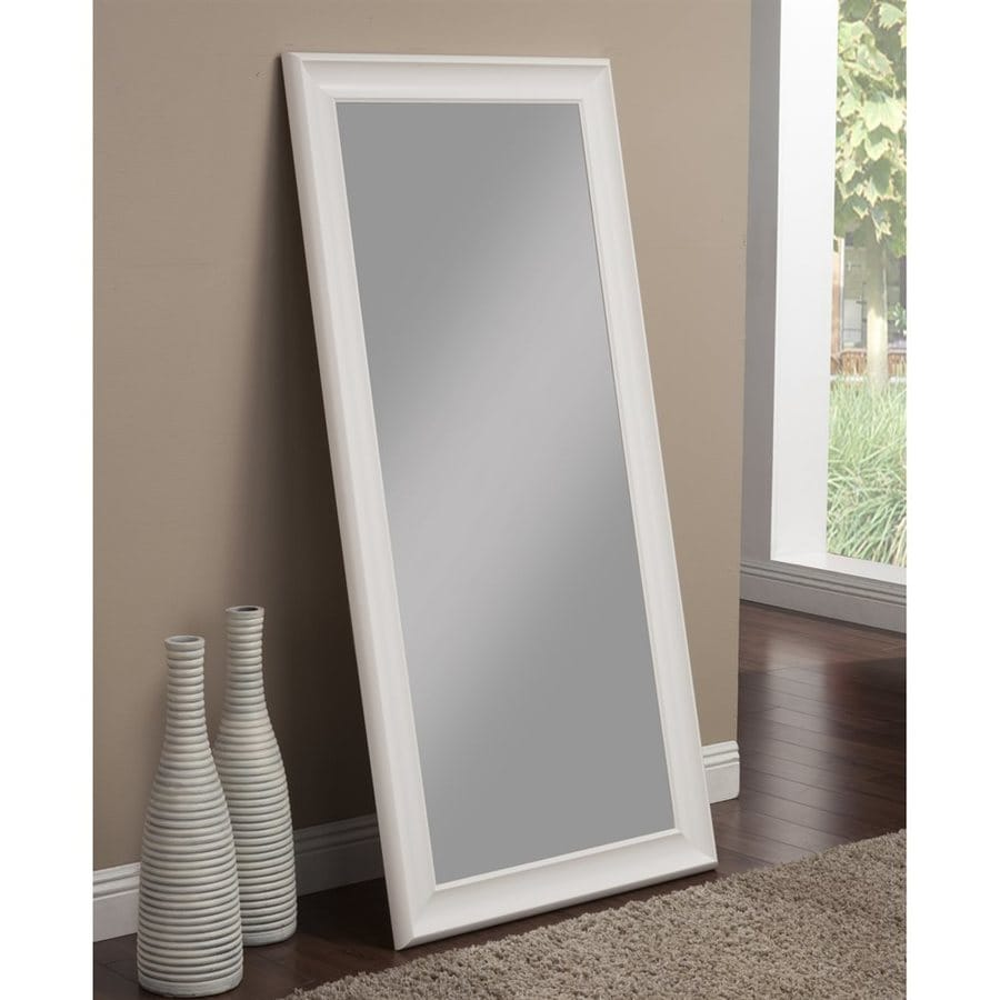 Sandberg Furniture White Beveled Wall Mirror