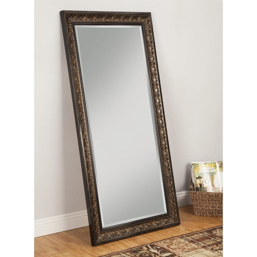 Wall Decor Using Mirrors : Sandberg furniture andorra brown beveled wall mirror