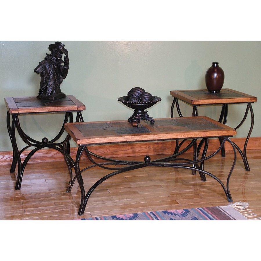 Sunny Designs Sedona 3-Piece Rustic Oak Accent Table Set