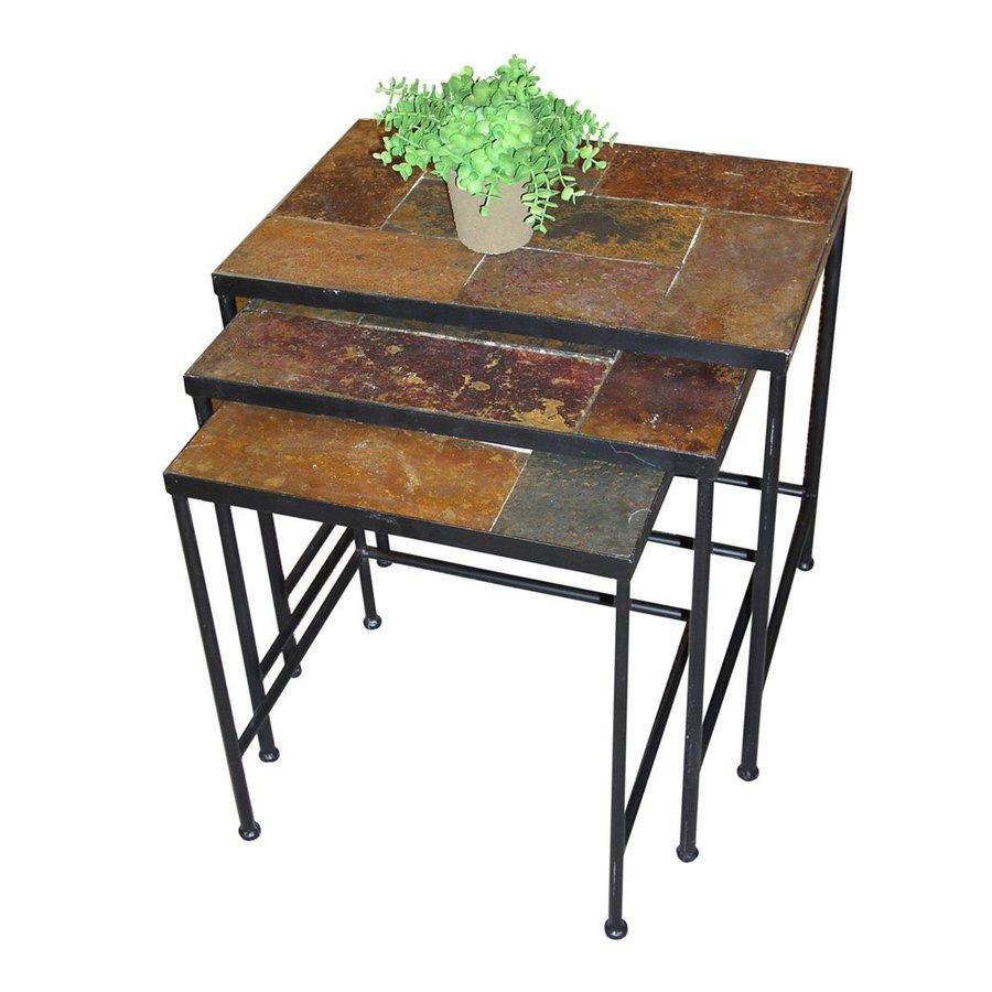 4D Concepts 3-Piece Slate Accent Table Set
