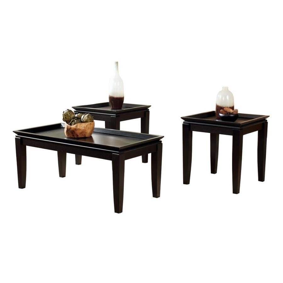 Signature Design by Ashley Delormy 3-Piece Almost Black Accent Table Set
