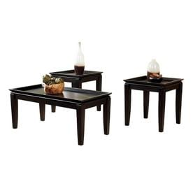 Shop accent coffee tables at lowes signature design by ashley delormy 3 piece almost black accent table set watchthetrailerfo