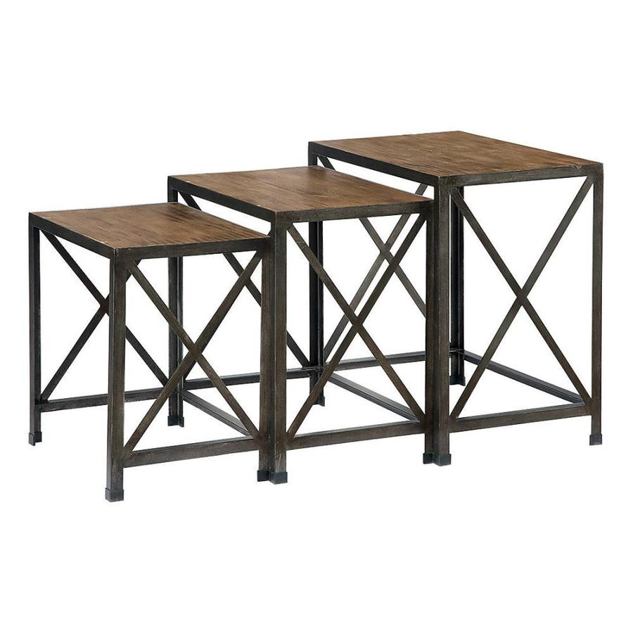 Signature Design by Ashley Rustic Accents 3-Piece Dark Brown Accent Table Set