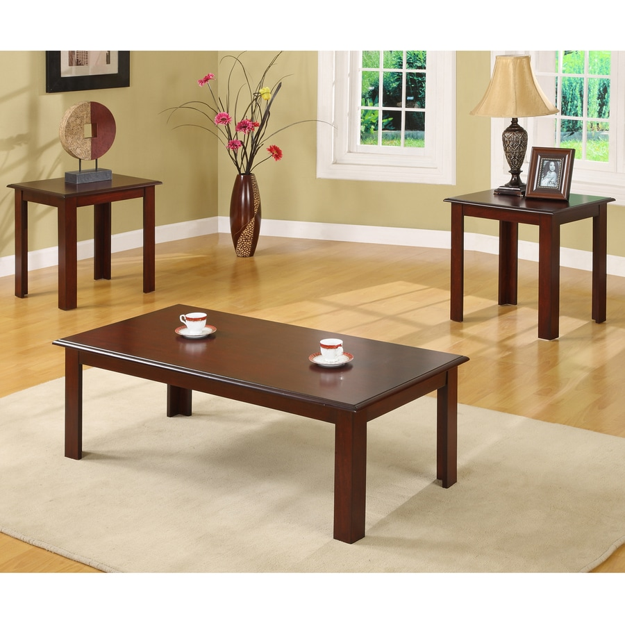 William's Home Furnishings 3-Piece Cherry Accent Table Set