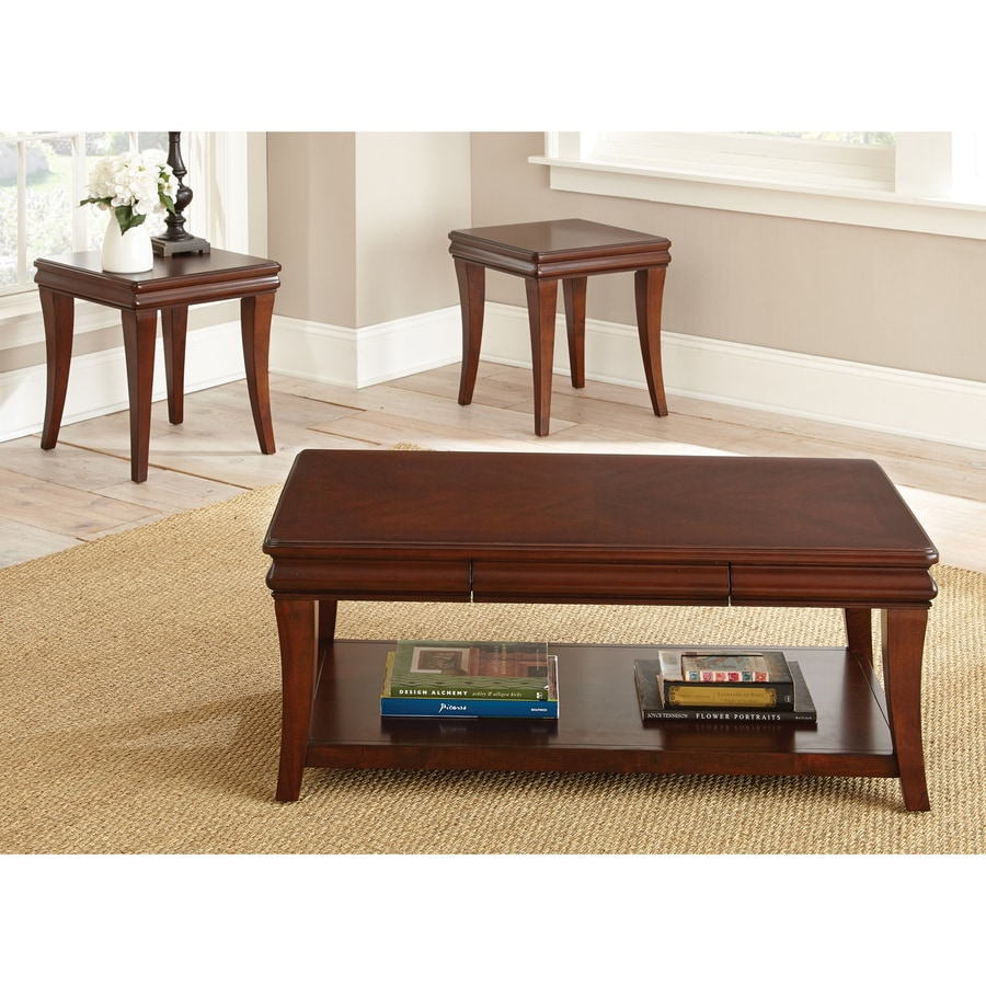 Steve Silver Company Aubrey 3-Piece Cherry Accent Table Set