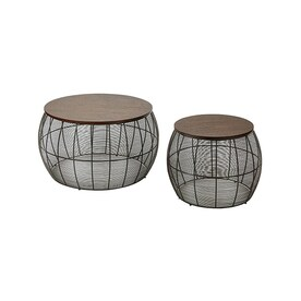Office Star Camden 2 Piece Espresso Accent Table Set