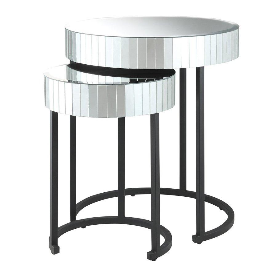 Office Star Krystal 2-Piece Mirror Accent Table Set