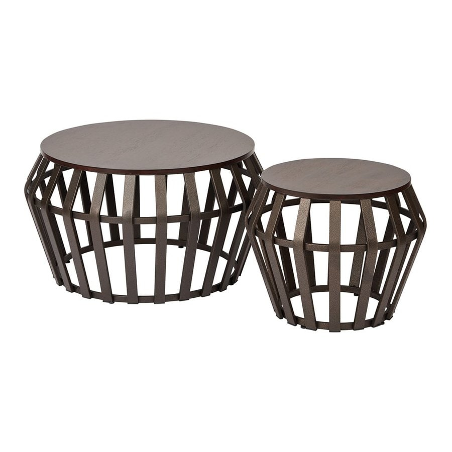 Office Star Solana 2-Piece Espresso Accent Table Set