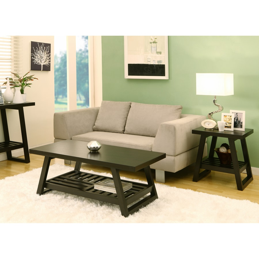 Enitial Lab Julianne 2-Piece Cappuccino Accent Table Set