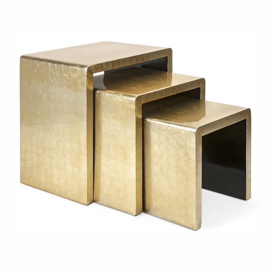 Imax Worldwide Elaine 3-Piece Gold Accent Table Set