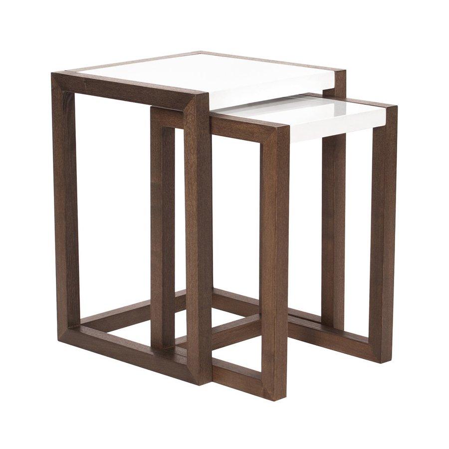 Howard Elliott 2-Piece Glossy White Accent Table Set