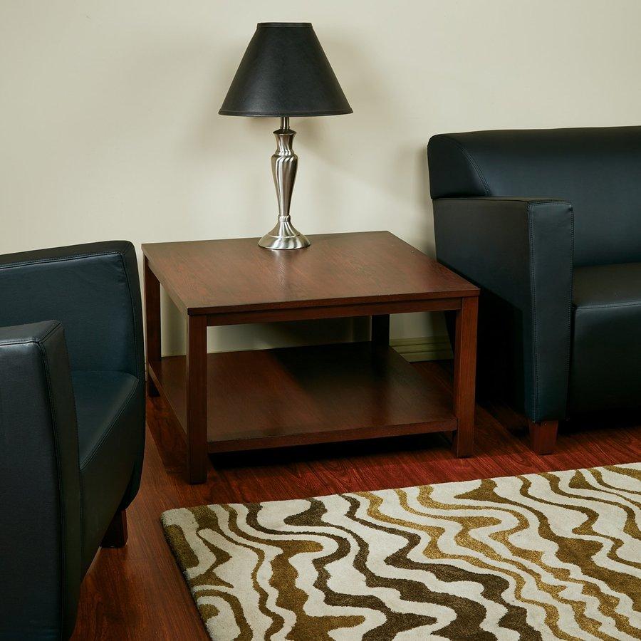 mahogany coffee table. Office Star Merge Mahogany Coffee Table