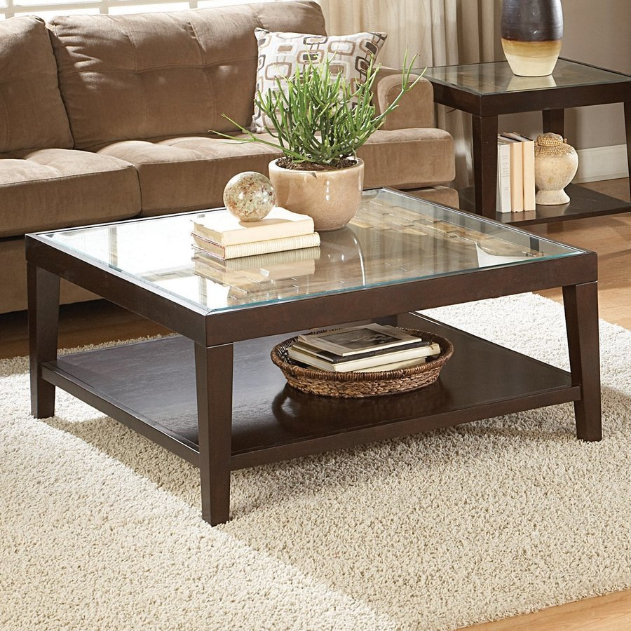 Homelegance Vincent Rubber Glass Coffee Table