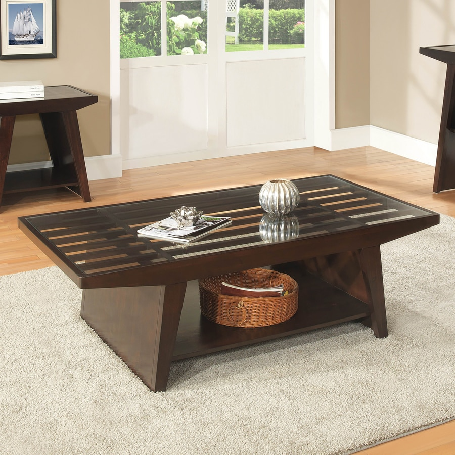 Homelegance Cullum Rubber Glass Coffee Table