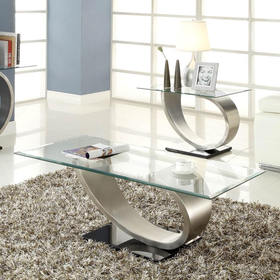 Homelegance Silvera Glass Coffee Table