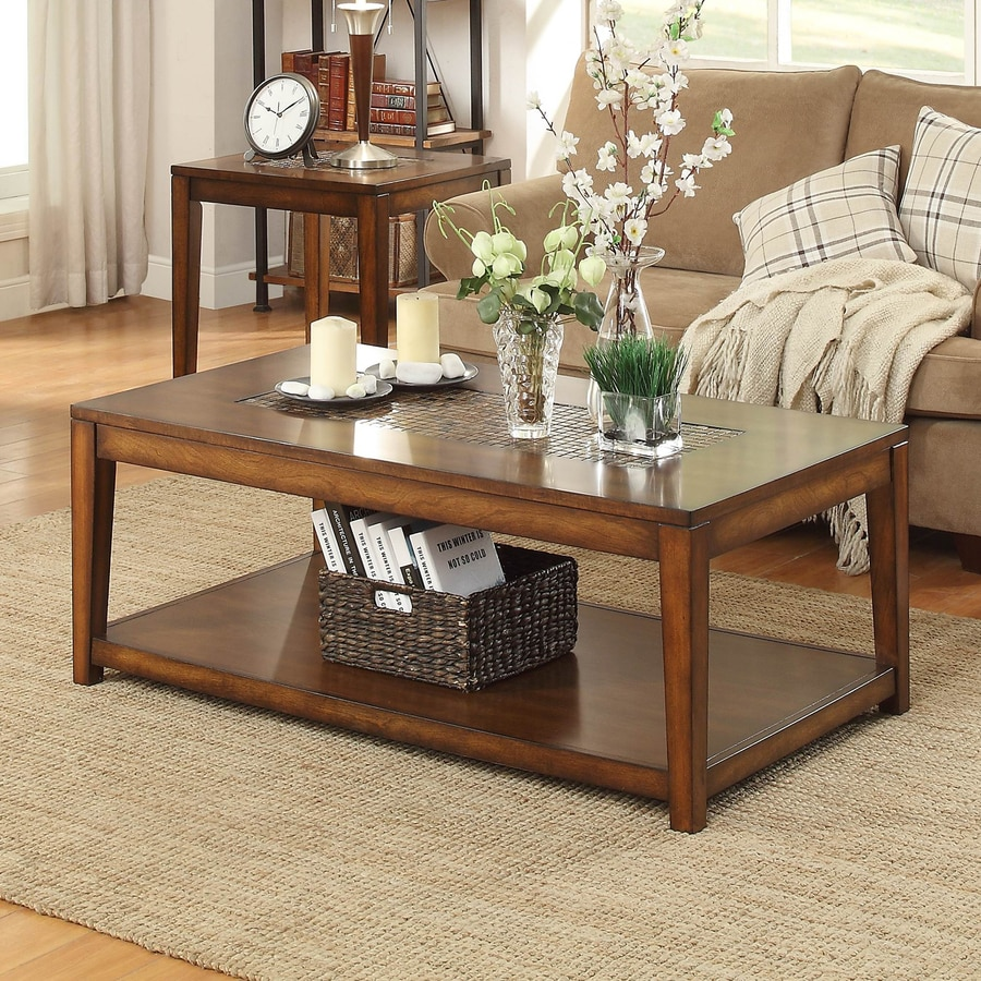 Homelegance Antoni Poplar Tile Coffee Table