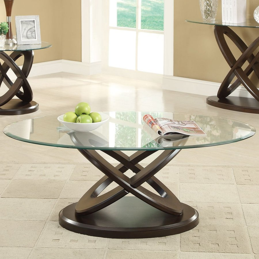 Shop coaster fine furniture glass coffee table at lowes coaster fine furniture glass coffee table geotapseo Image collections