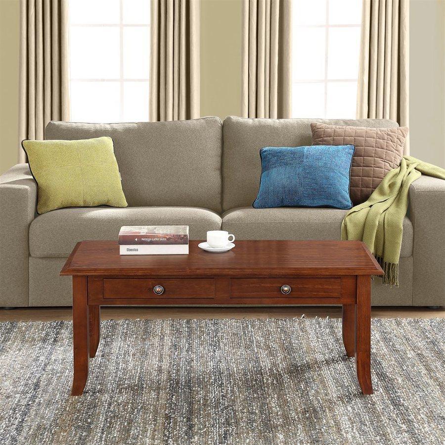Simpli Home Devon Pine Coffee Table