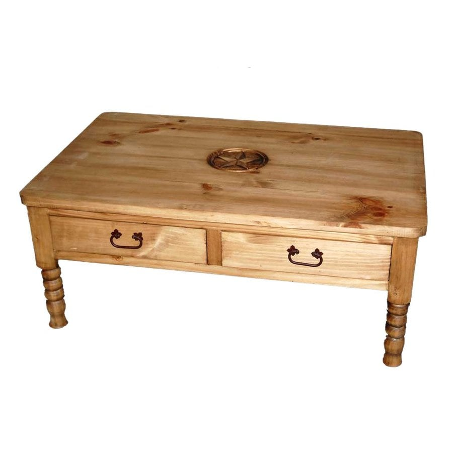 Shop Million Dollar Rustic Star Pine Coffee Table at Lowes