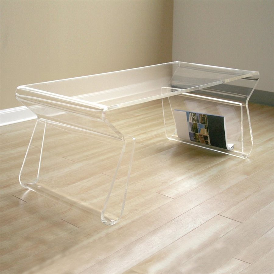 shop baxton studio acrylic coffee table at lowes