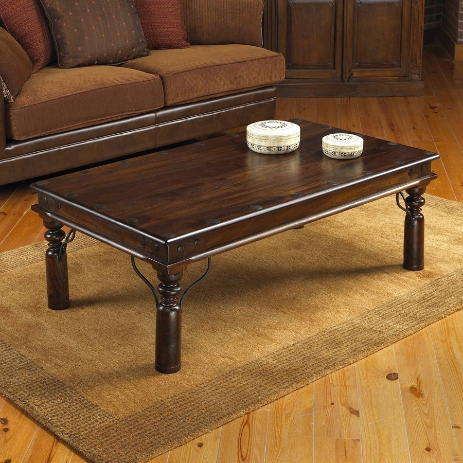 Shop William Sheppee Thakat Dark Walnut Sheesham Coffee Table At