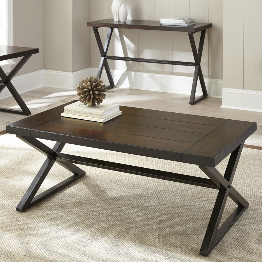 Steve Silver Company Omaha Burnished Dark Cherry Coffee Table
