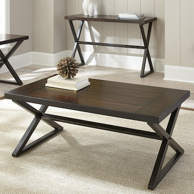 Steve Silver Omaha Burnished Dark Cherry Coffee Table At Lowes Com