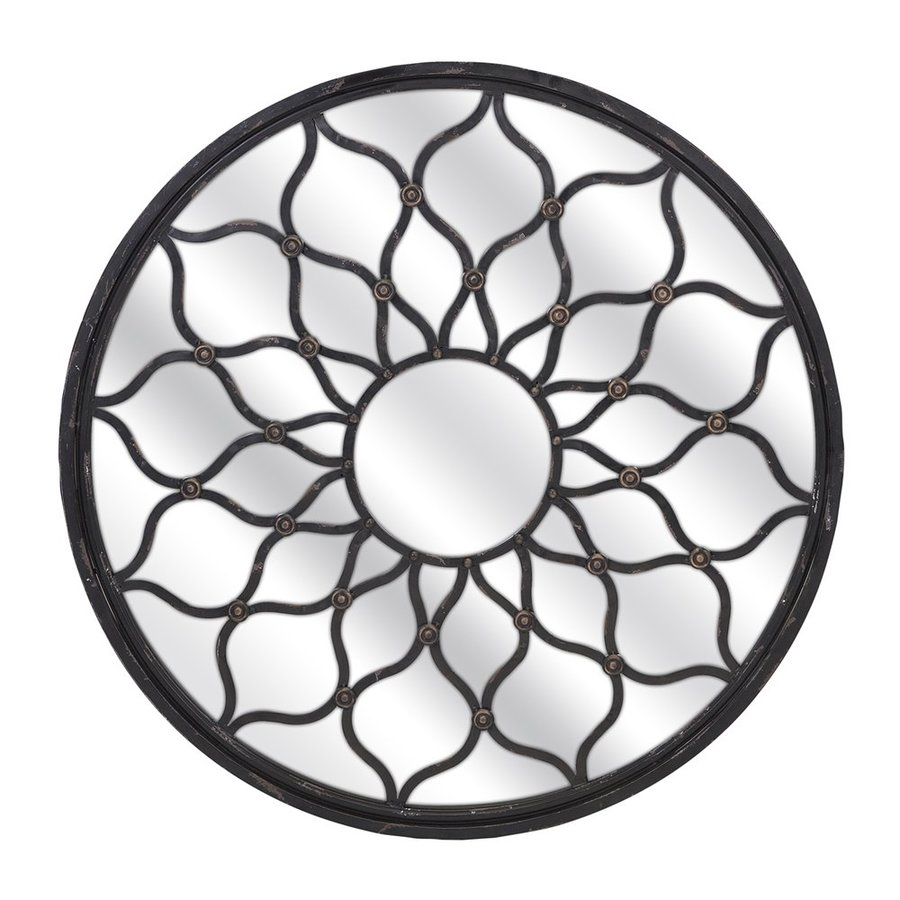 Imax Worldwide Maske Iron Framed Round Wall Mirror