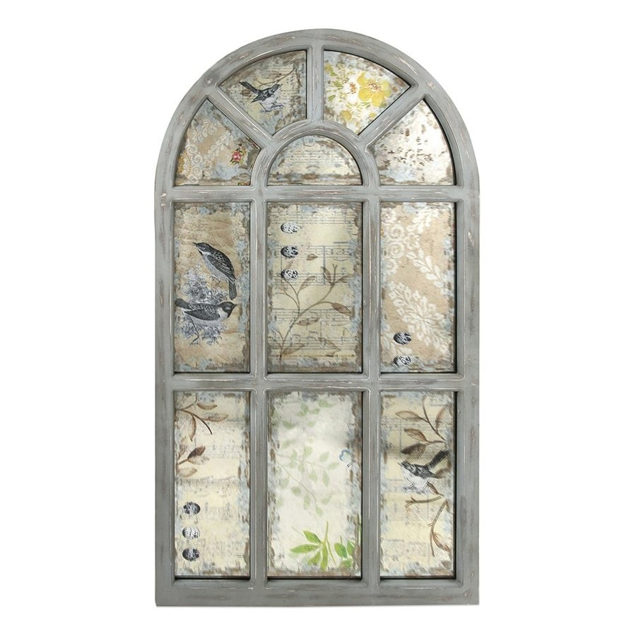 Imax Worldwide Laverne Antique Gray Framed Arch Wall Mirror