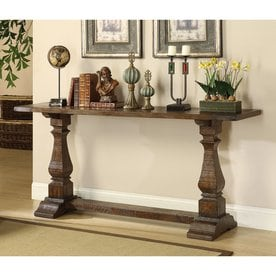 Coast To Coast Rustic Brown Wood Rustic Console Table