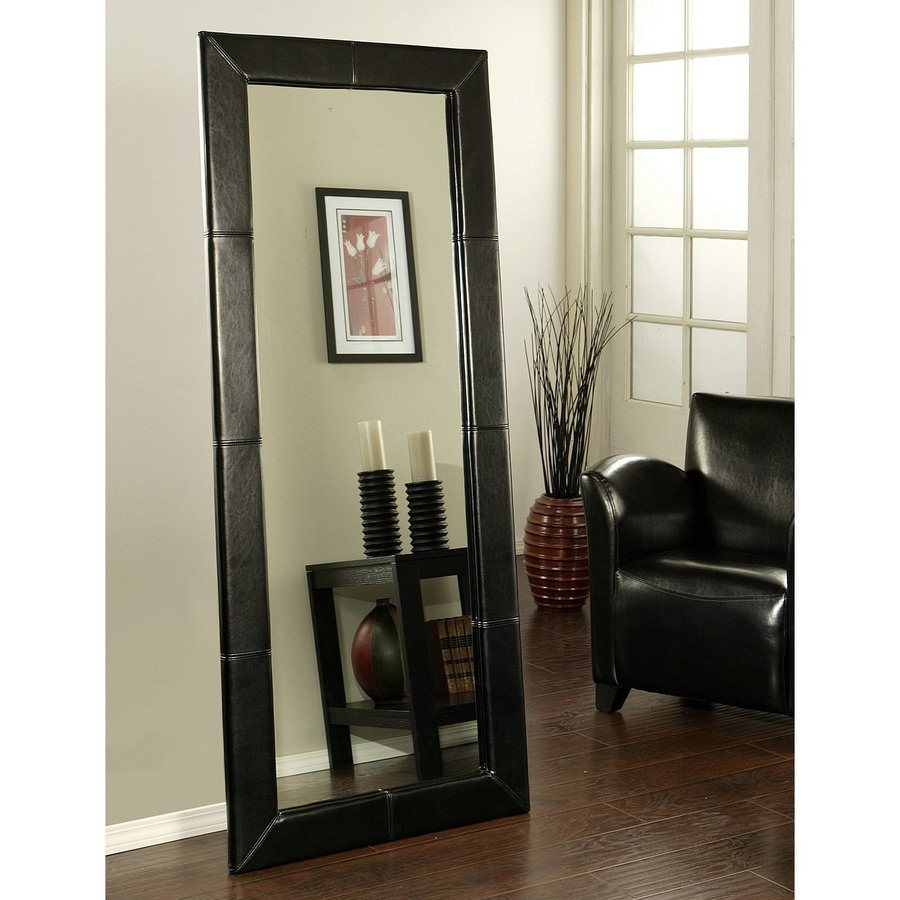 contemporary floor mirror - shop pacific loft logan in x in black framed rectangle