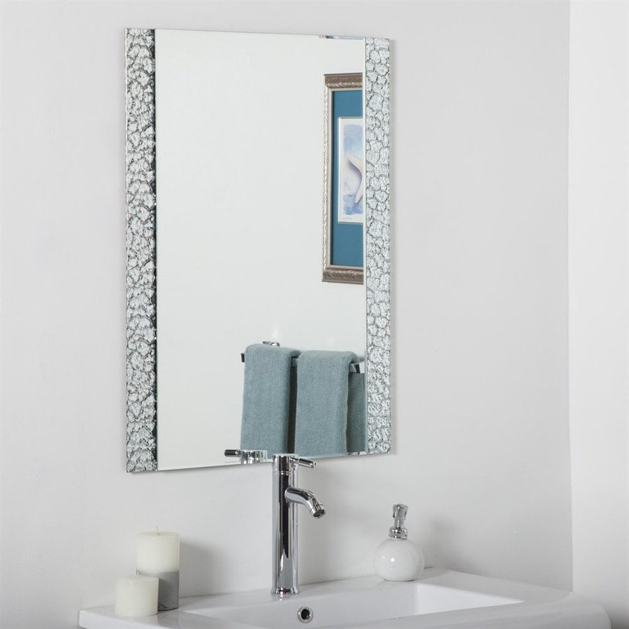 Decor Wonderland 23.6-in x 31.5-in Rectangular Framed Bathroom Mirror