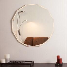 Decor Wonderland 276 In X Round Frameless Bathroom Mirror