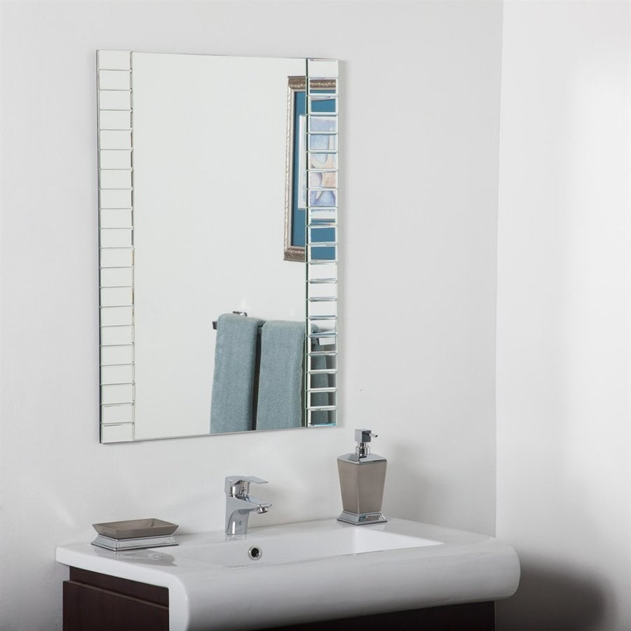 shop bathroom mirrors shop decor 23 6 in rectangular bathroom mirror 14395