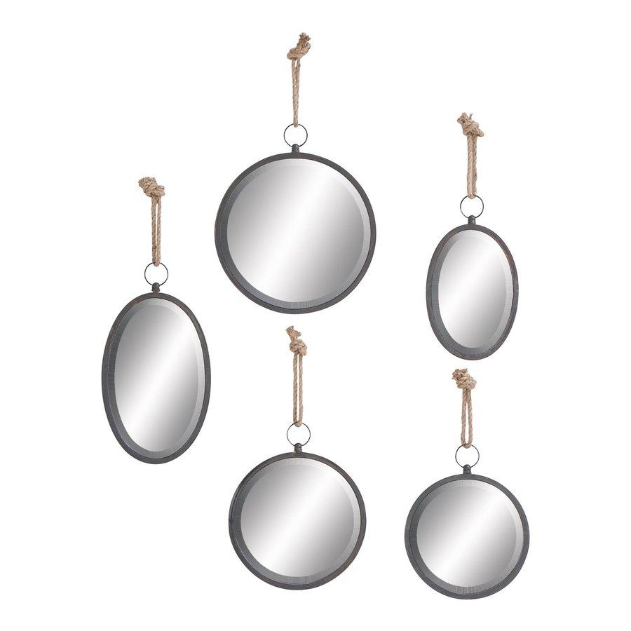 Woodland Imports Framed Round Wall Mirror