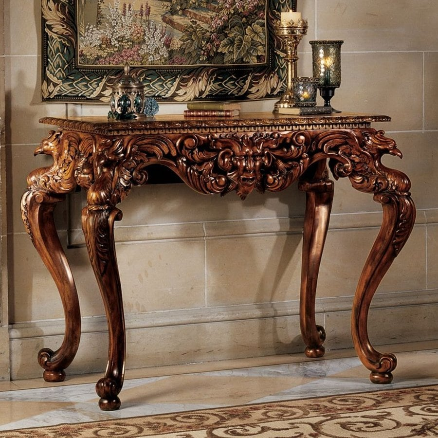 Design Toscano King Frederic Mahogany Console Table