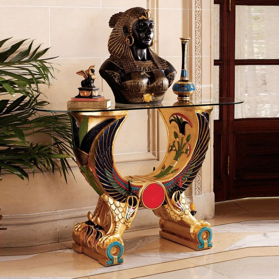 Design Toscano Egyptian Wings Of Horus Alter Console Table