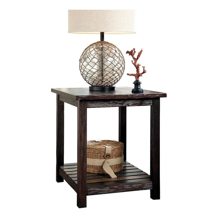 Signature Design by Ashley Mestler Rustic Brown End Table