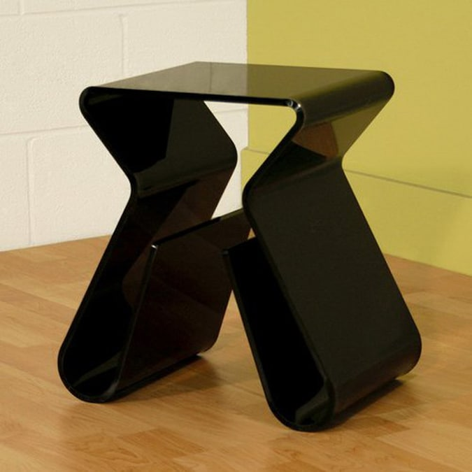 Baxton Studio Black Acrylic Modern End Table In The End Tables Department At Lowes Com