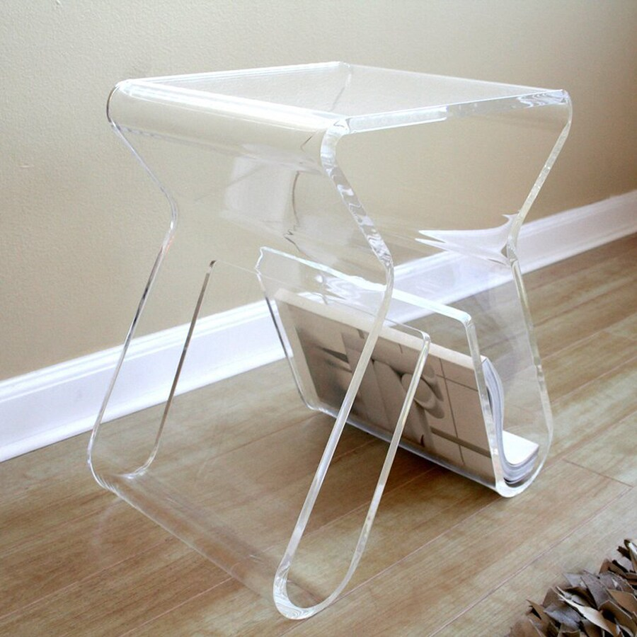 Baxton Studio Clear End Table