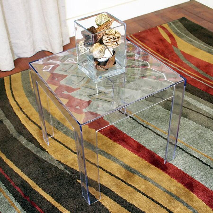 Baxton Studio Parq Clear End Table