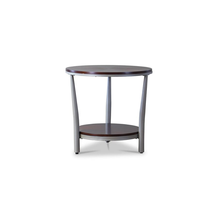 Baxton Studio Halo Cherry/Silver Cherry End Table