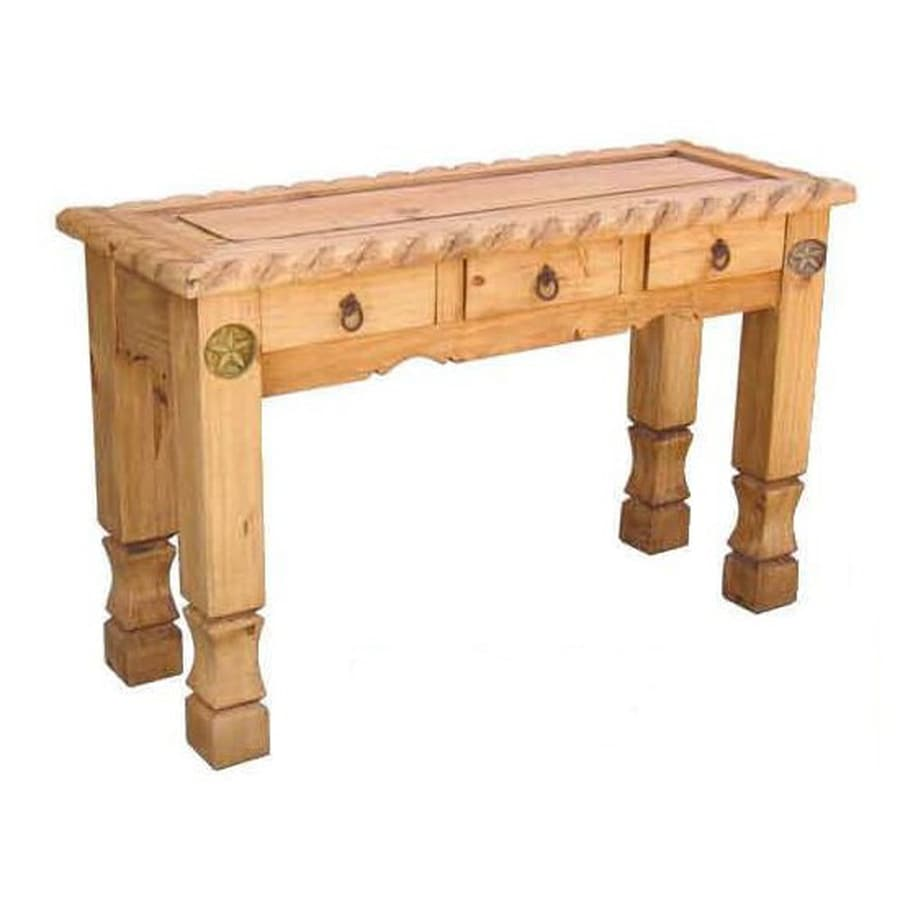 Shop million dollar rustic wood sofa table at lowes