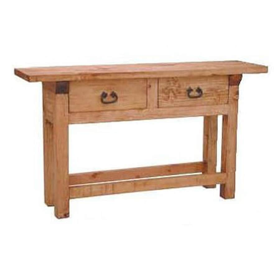 Shop million dollar rustic pine sofa table at - Pine sofa table with drawers ...